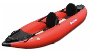 13 feet Saturn Inflatable Self Bailing Whitewater Kayak - with high seats