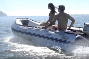 Newport Vessels Dana Inflatable Sport Tender Dinghy Boat - on the water