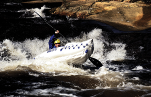 Sea Eagle SE330 Inflatable Sports Kayak Pro Solo Package - white water
