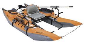 Classic Accessories Colorado XT Inflatable Pontoon Boat With Transport Wheel & Motor Mount - pumpkin color