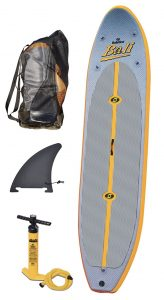 Solstice Bali 10'8 Inflatable Stand-Up Paddleboard - pump vin bag
