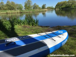 iRocker Cruiser 10'6 inflatables standup paddleboard - great stable SUP for the whole family