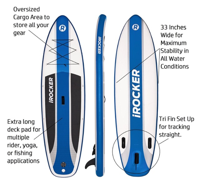 iRocker Cruiser 10ft6in inflatable SUP - features