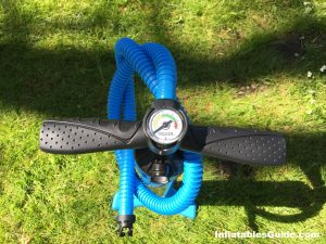iRocker Cruiser SUP - dual action pump with pressure gauge