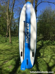 iRocker Cruiser SUP - great package with fiberglass paddle pump backpack