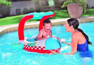 Bestway UV Careful Sun Protection Kids Childs Inflatable Swimming Pool Float