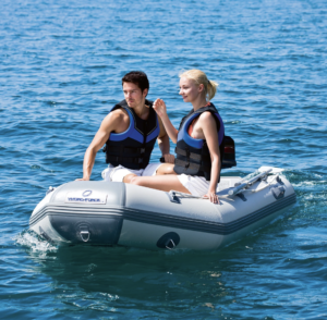 HydroForce Caspian Pro 9ft 3in Inflatable Dinghy Boat - on the water