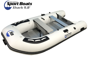 Inflatable Sport Boats Shark Model 300 Dinghy - front side view