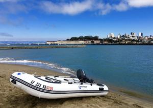 Inflatable Sport Boats Shark Model 300 Dinghy - on the beach