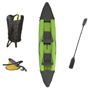 Outdoor Tuff Stinger 4 OTF-4252PK Inflatable Two-Person Sport Kayak with Rotatable Paddle