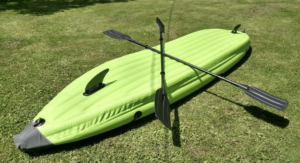 Outdoor Tuff Stinger 4 OTF-4252PK Inflatable Two-Person Sport Kayak with Rotatable Paddle and pump
