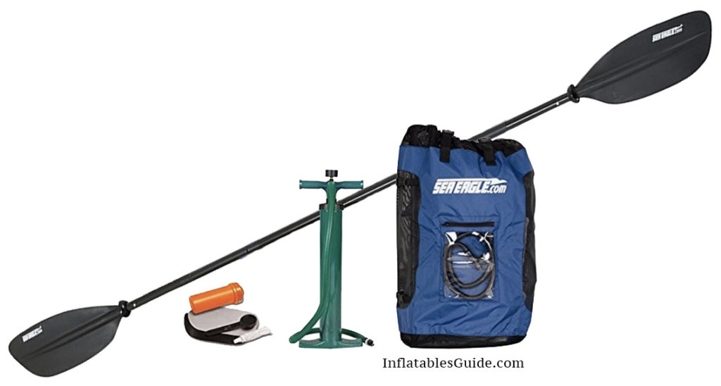 Sea Eagle Razorlite 393rl Pro package Inflatable Kayak - including paddle backpack pump repair kit