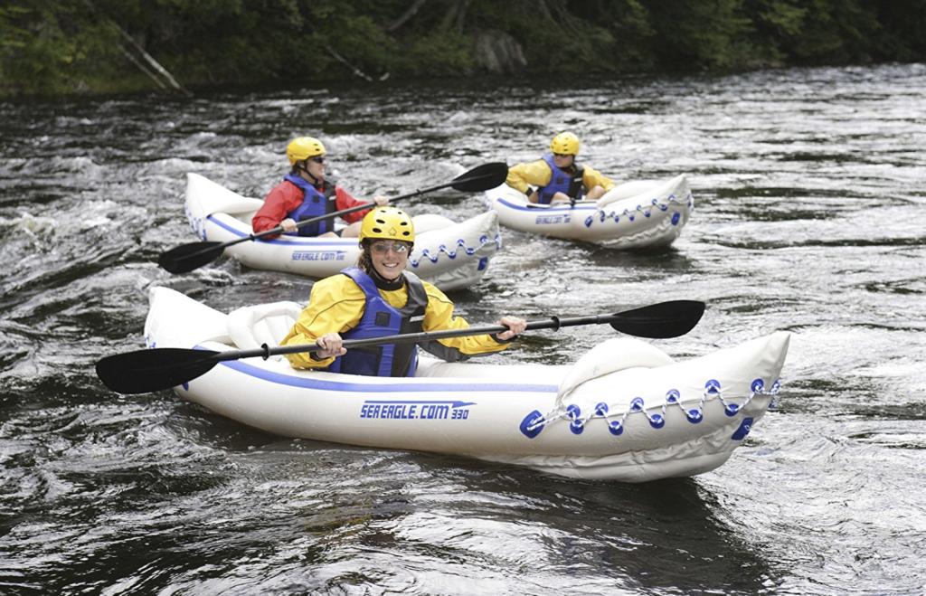 Sea Eagle SE330 Inflatable Sports Kayak Pro Solo Package - adventure