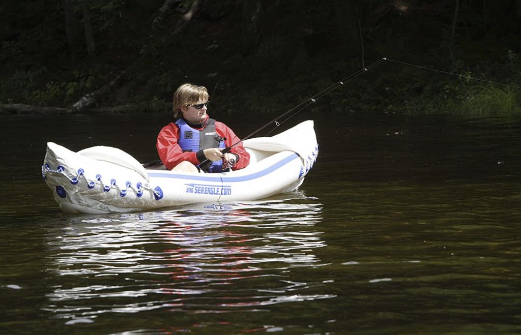 Sea Eagle SE330 Inflatable Sports Kayak Pro Solo Package - fishing