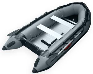 Seamax Ocean320 Heavy Duty Inflatable Dinghy Boat - dark grey backside view