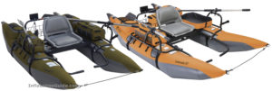 Classic Accessories Colorado XT Inflatable Pontoon Boat - pumpkin and sage grey colors