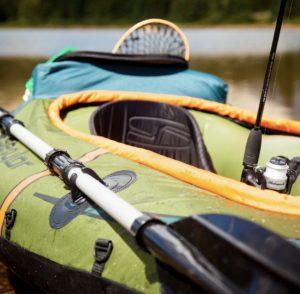 Coleman Sevylor 24-Gauge K5 Inflatable Fishing Kayak - seat and paddle holders