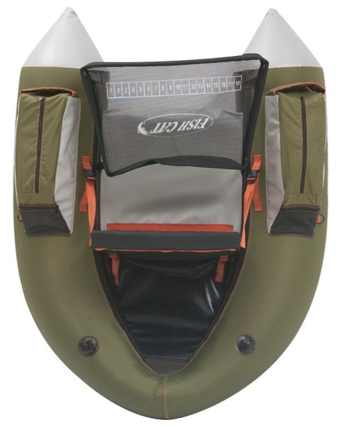 Orvis Outcast Fish Cat 4 Inflatable Fishing Float Tube - top view