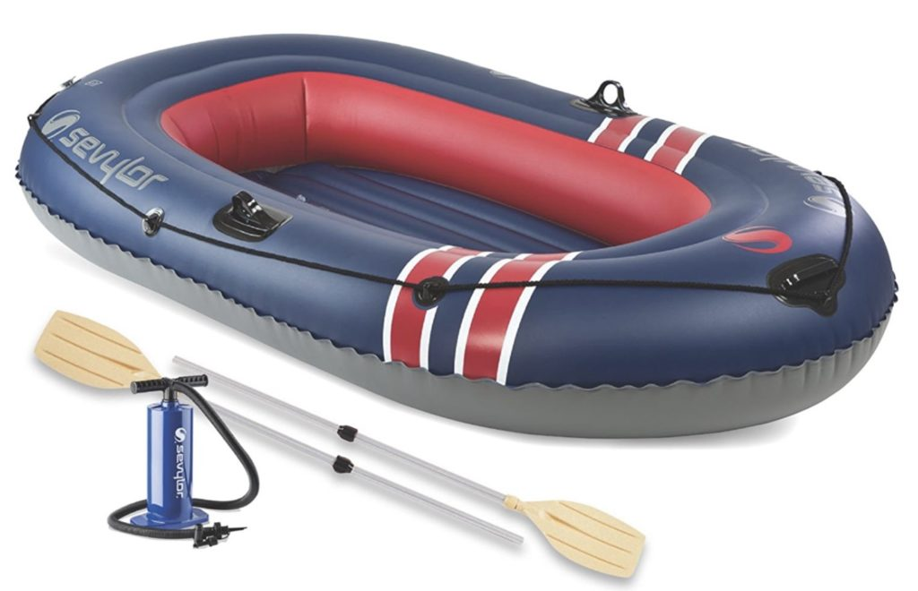 Sevylor Caravelle 300 3-Person Inflatable Boat Combo