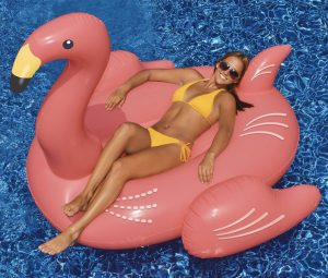 Swimline Giant Pink Flamingo Ride On 78-inch Inflatable swimming pool float toys