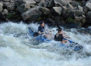 13' Saturn inflatable self bailing white water kayak