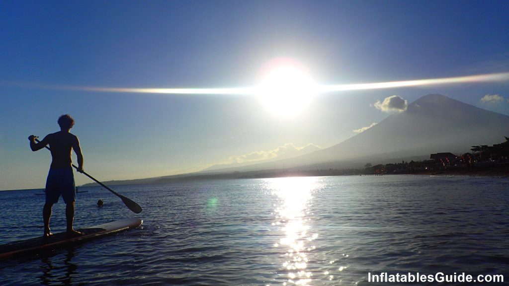 Standup Paddle boarding SUP in Bali Indonesia