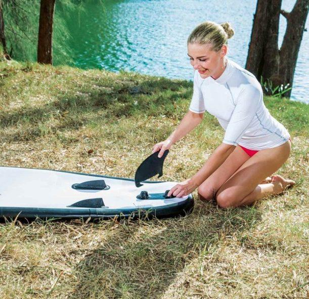 Bestway HydroForce Wave Edge 10'2 Standup Paddleboard SUP - 3 vins setup