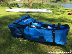 iRocker Cruiser standup paddleboard - large backpack for all your SUP stuff with paddle and pump