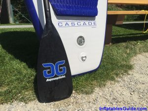 Aquaglide Cascade 10ft inflatable SUP - rear paddle board
