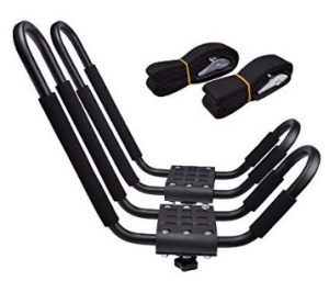 Lifetime Warranty TMS J-Bar Rack HD Kayak Carrier Canoe Boat Surf Ski Roof