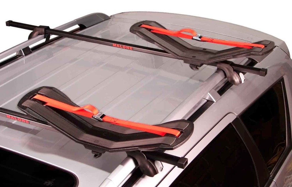 Malone SeaWing Saddle Style Kayak Carrier Rack - Fitted on roof