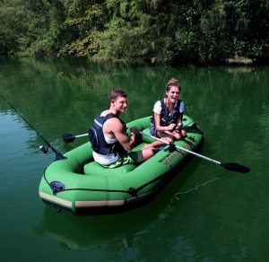 HydroForce Voyager 1000 Inflatable Raft - with fishing oars