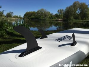 Thurso Surf Waterwalker paddleboard - removable 3 fins setup